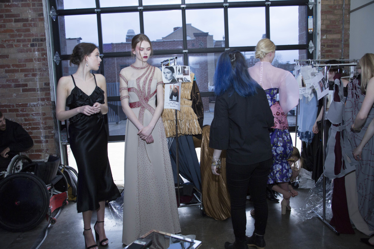Backstage at a student fashion show. Photo: Courtesy of Washington University in St. Louis