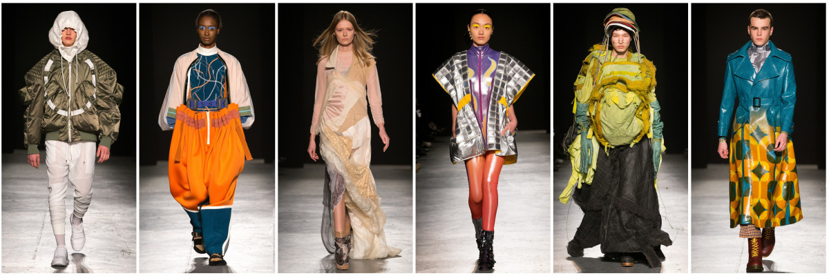 Student runway looks. Photo: Courtesy of University of Westminster