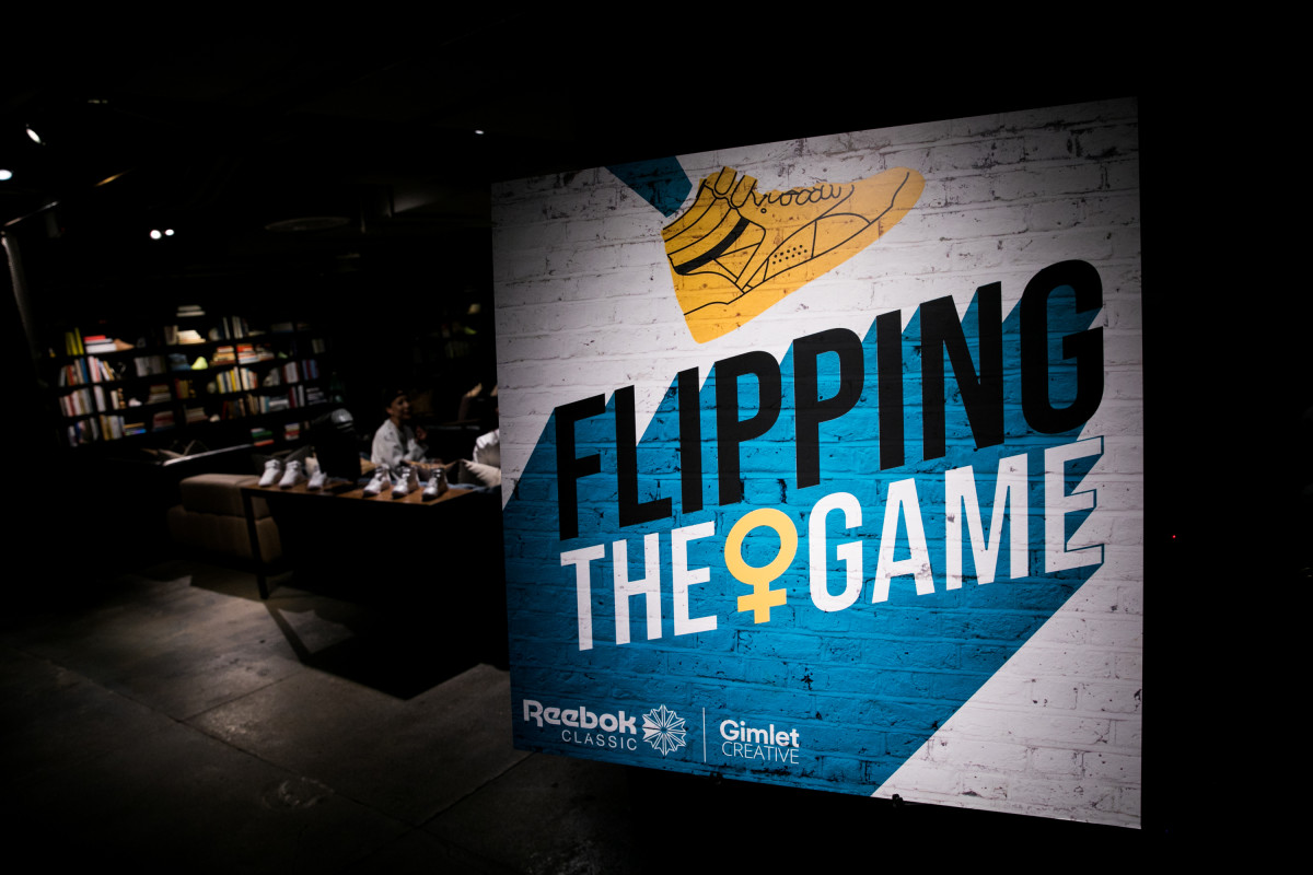 "Reebok's ""Flipping the Game"" launch event. Photo: Courtesy of Reebok"