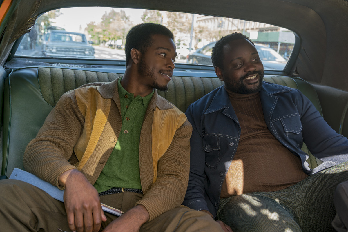 Fonny (James) and Daniel (Brian Tyree Henry). Photo: Tatum Mangus/Annapurna Pictures