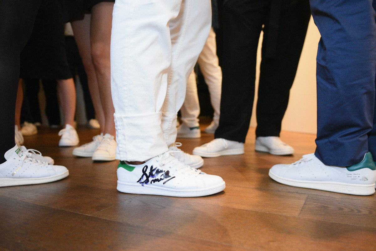 "Guests wearing Stan Smiths at the book launch of ""Stan Smith: Some People Think I'm A Shoe."" Photo: Andrew Toth/Getty Images"