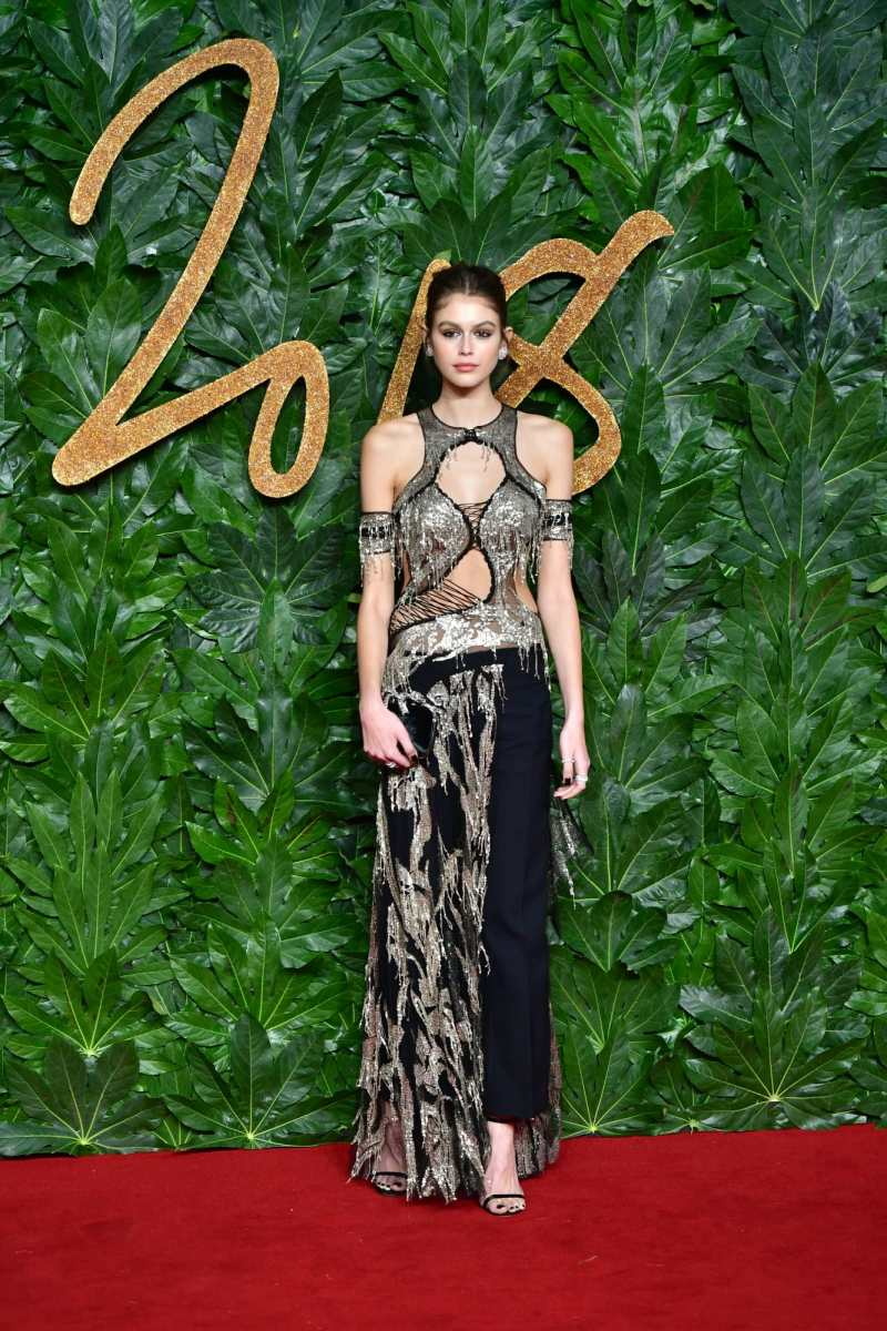 Model of the Year Kaia Gerber at the 2018 Fashion Awards in London, England. Photo: Samir Hussein/Wireimage