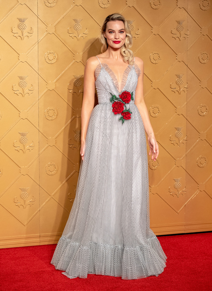 """Margot Robbie in Rodarte at the premiere of """"Mary Queen of Scots"""" in London. Photo: Chris J Ratcliffe/Getty Images"""