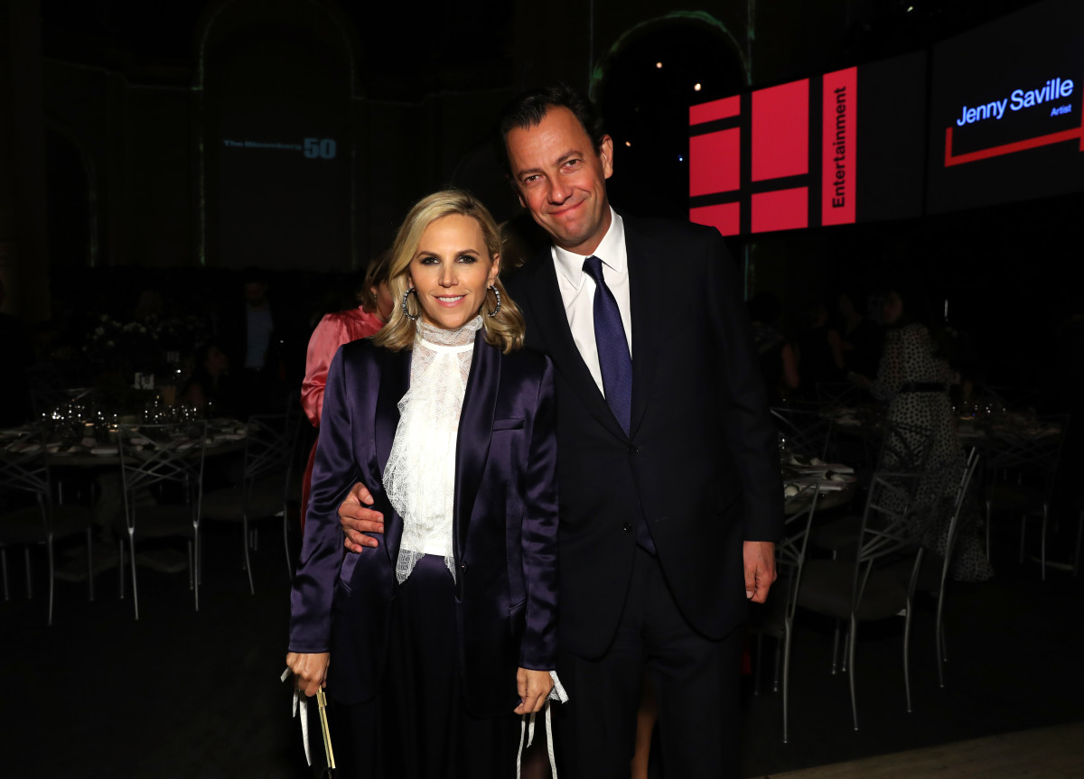 Tory Burch with her new CEO (and husband) Pierre-Yves Roussel. Photo: Cindy Ord/Getty Images for Bloomberg Businessweek