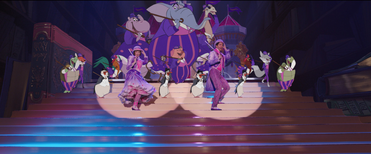 Mary and Jack with their backup talent. Photo: Courtesy of Disney