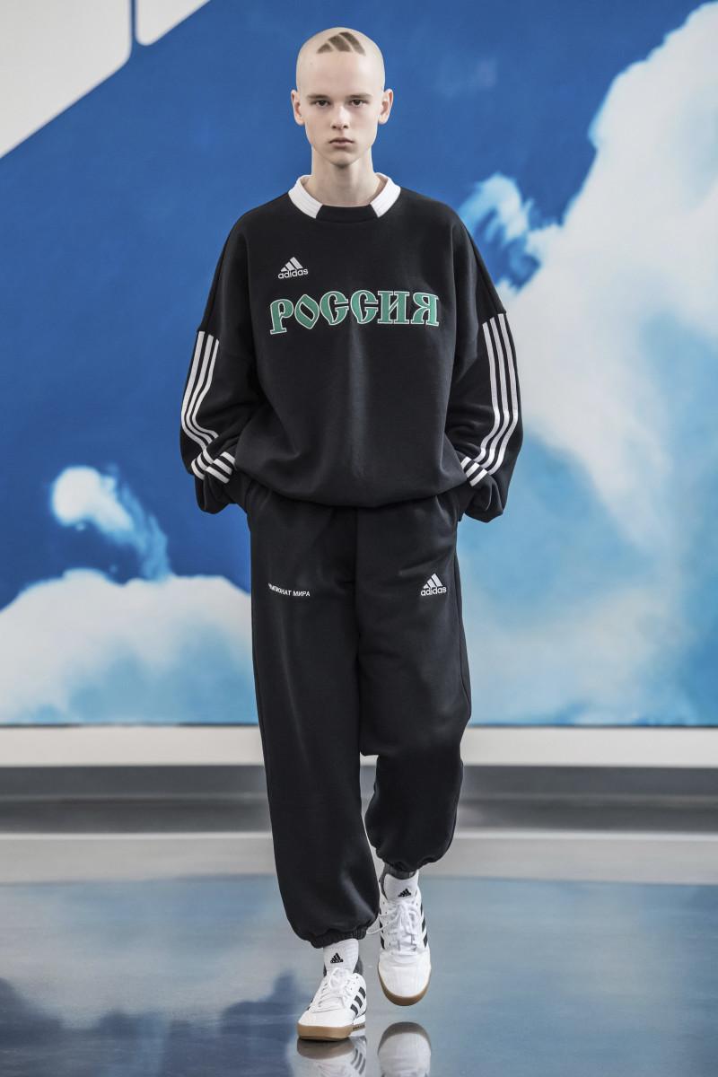 Gosha Rubchinskiy x Adidas on the runway. Photo: Imaxtree