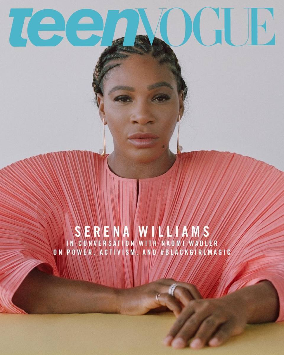 "Serena Williams on the December cover of ""Teen Vogue."" Photo: Ronan McKenzie for ""Teen Vogue"""