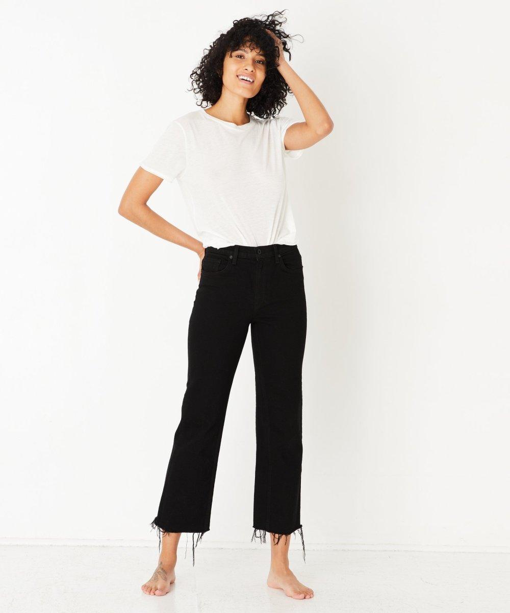 ASKK NY Slim Wide Leg Jean in Black Resin, $165, available here.