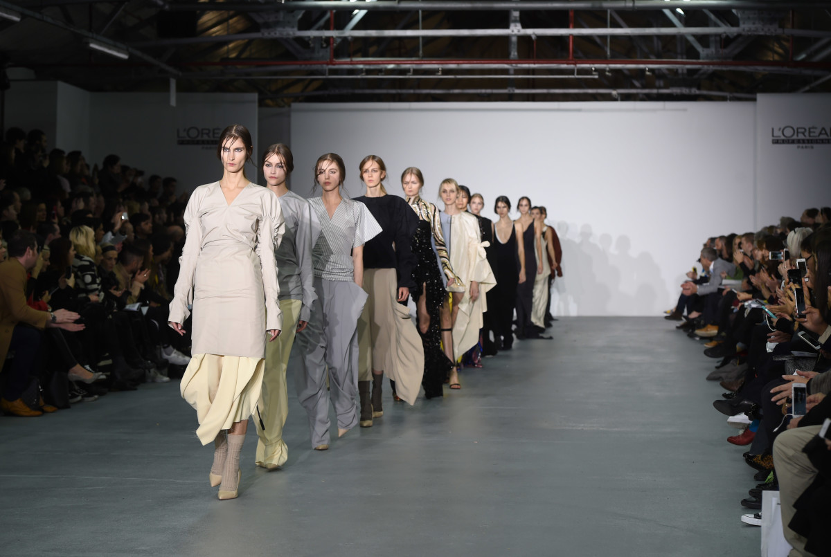 Central Saint Martins's MA Runway Show in February 2017. Photo: Stuart C. Wilson/Getty Images