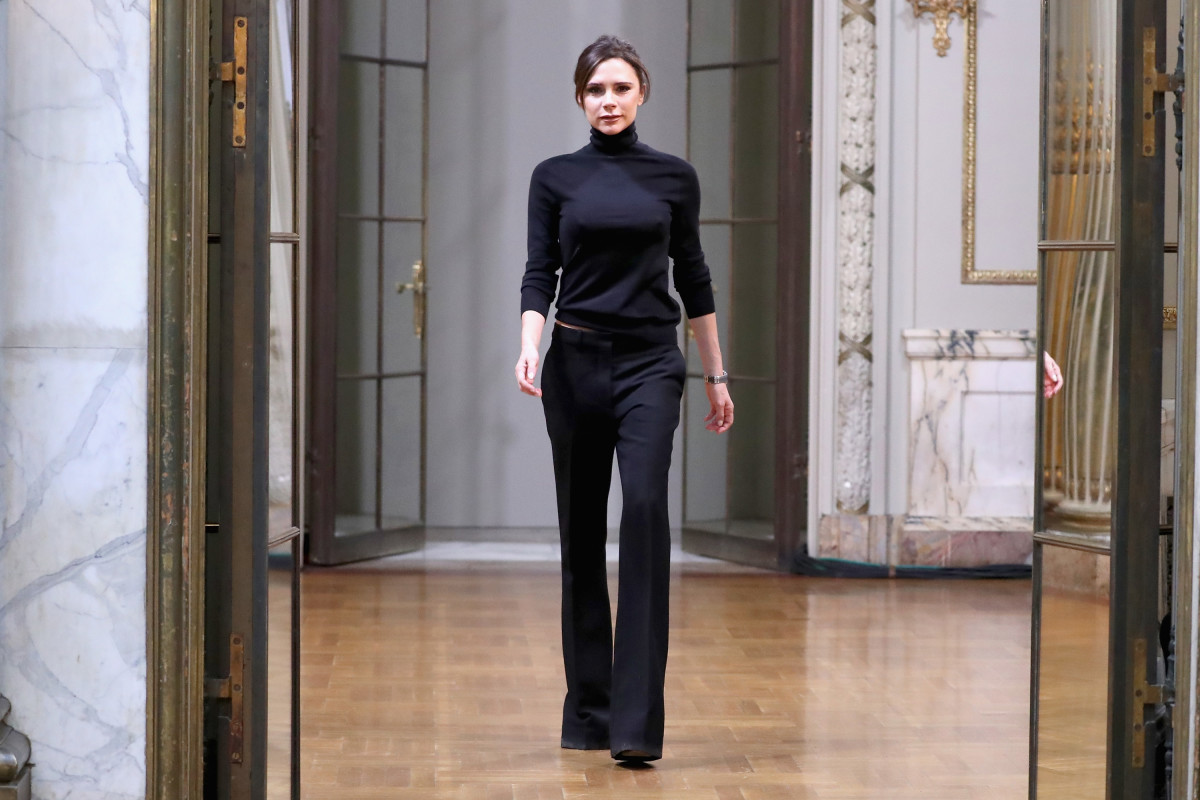 Victoria Beckham at her Fall 2018 presentation. Photo: JP Yim/Getty Images