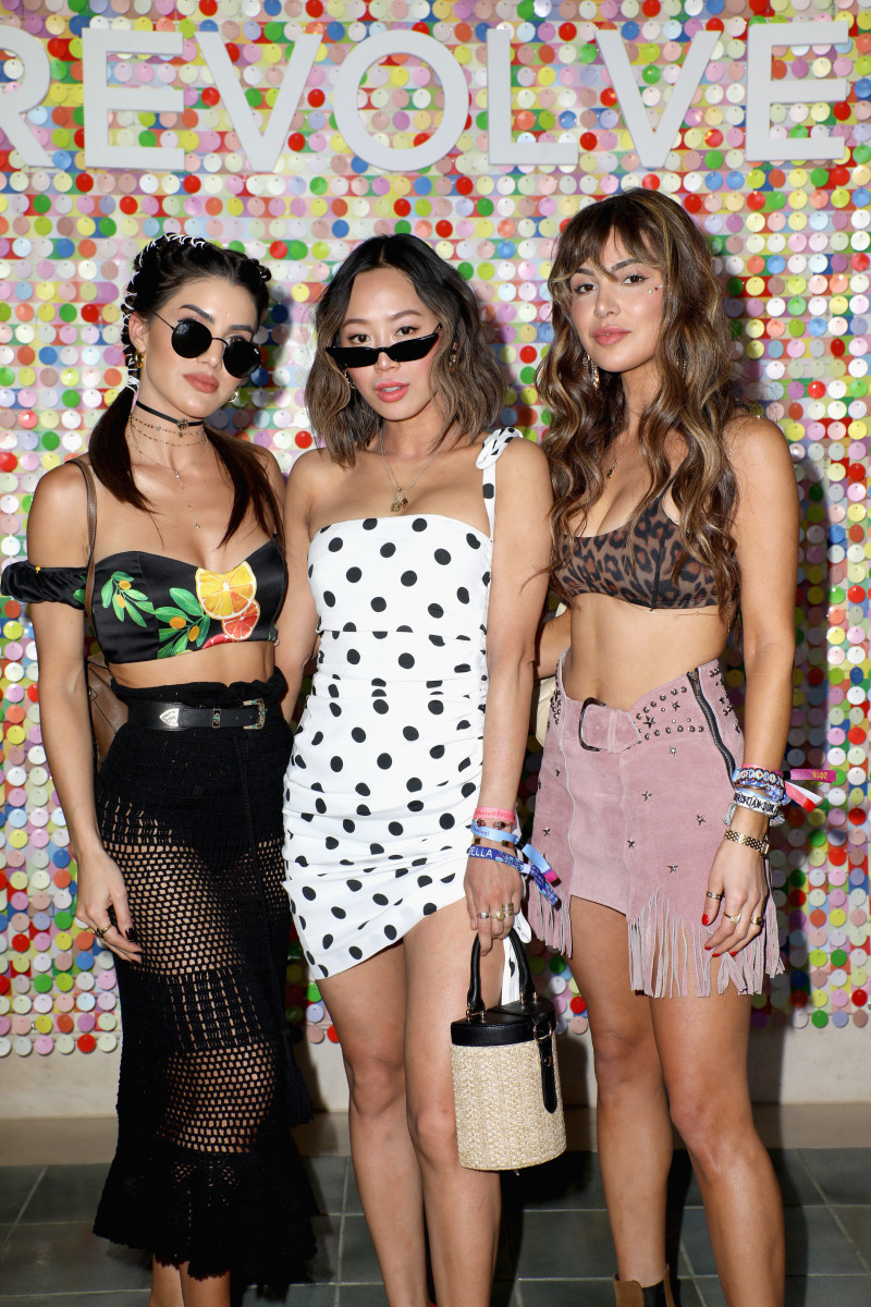 Camila Coelho, Aimee Song and Negin Mirsalehi at #REVOLVEfestival. Photo: Roger Kisby/Getty Images for REVOLVE