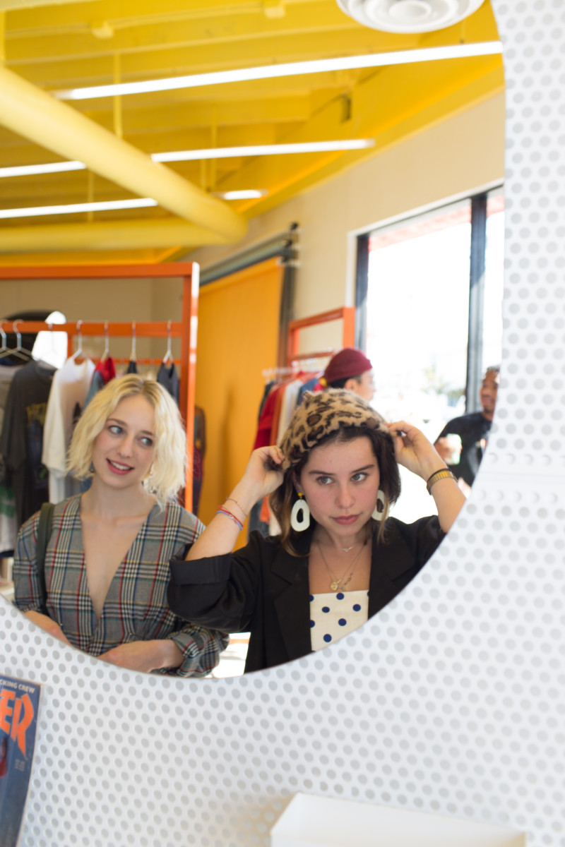 Shoppers in the Depop Los Angeles space. Photo: Courtesy of Depop