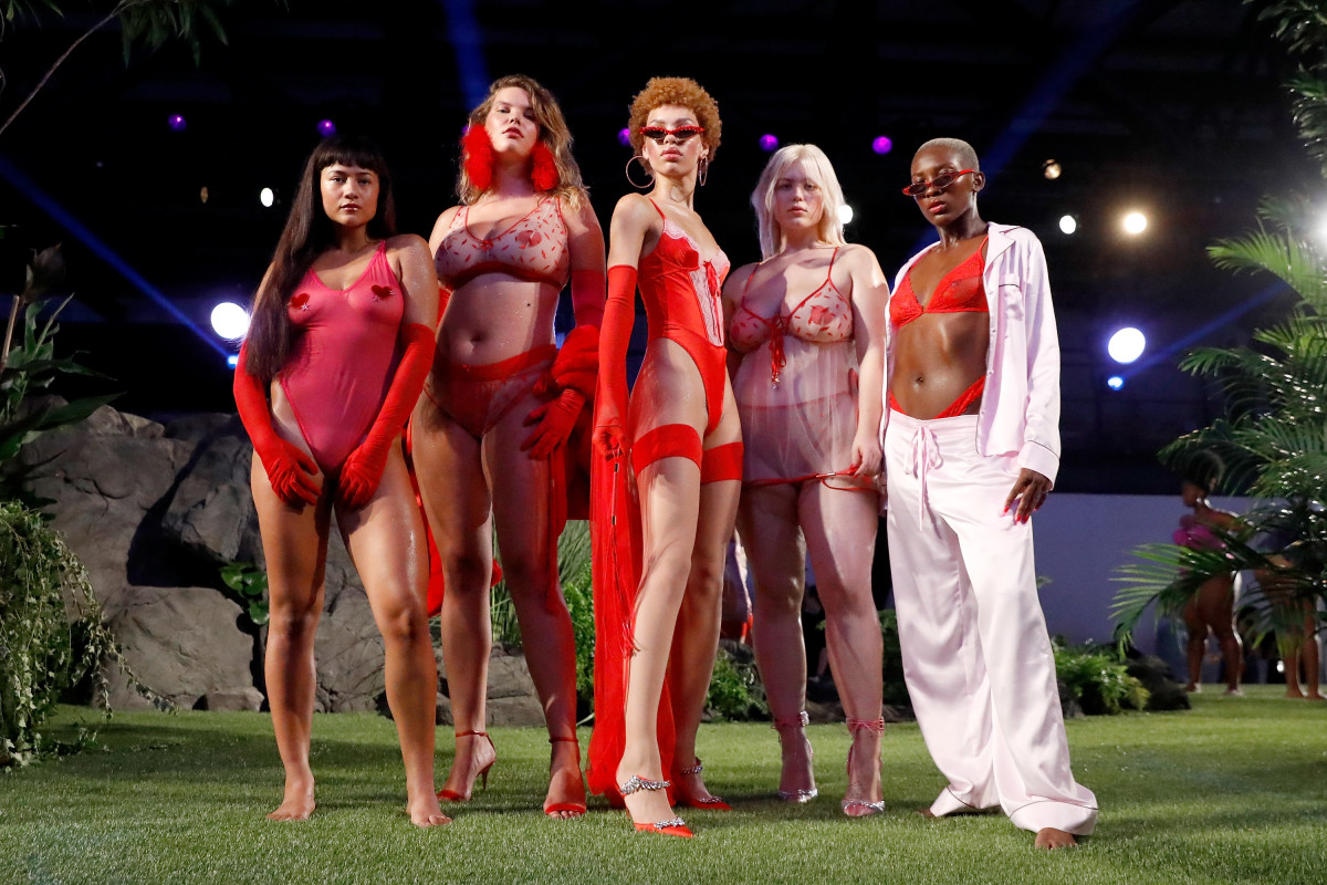 Looks from Savage Fenty's Fall 2018 collection. Photo: JP Yim/Getty Images for Savage X Fenty