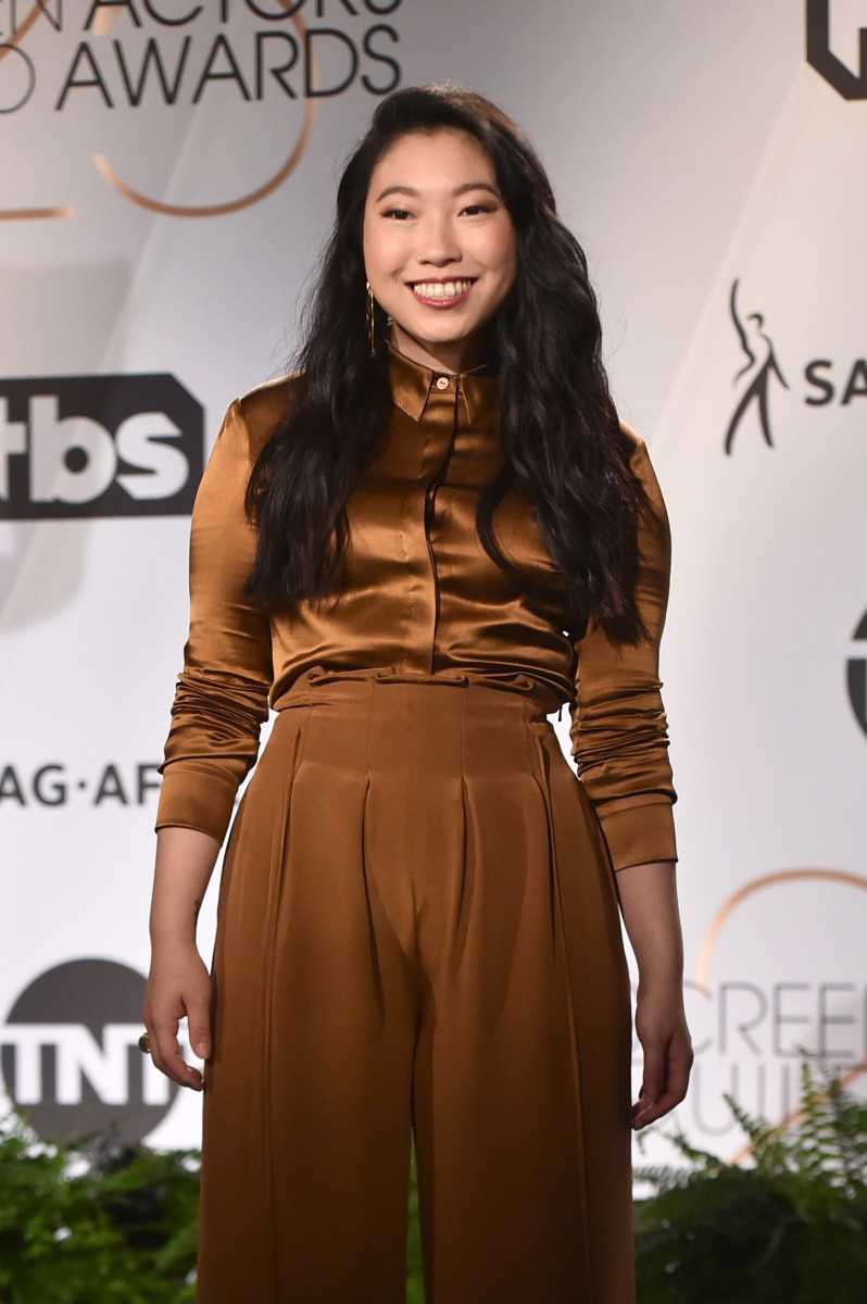 Awkwafina announcing the 25th Annual Screen Actors Guild Awards Nominations. Photo: Alberto E. Rodriguez/Getty Images