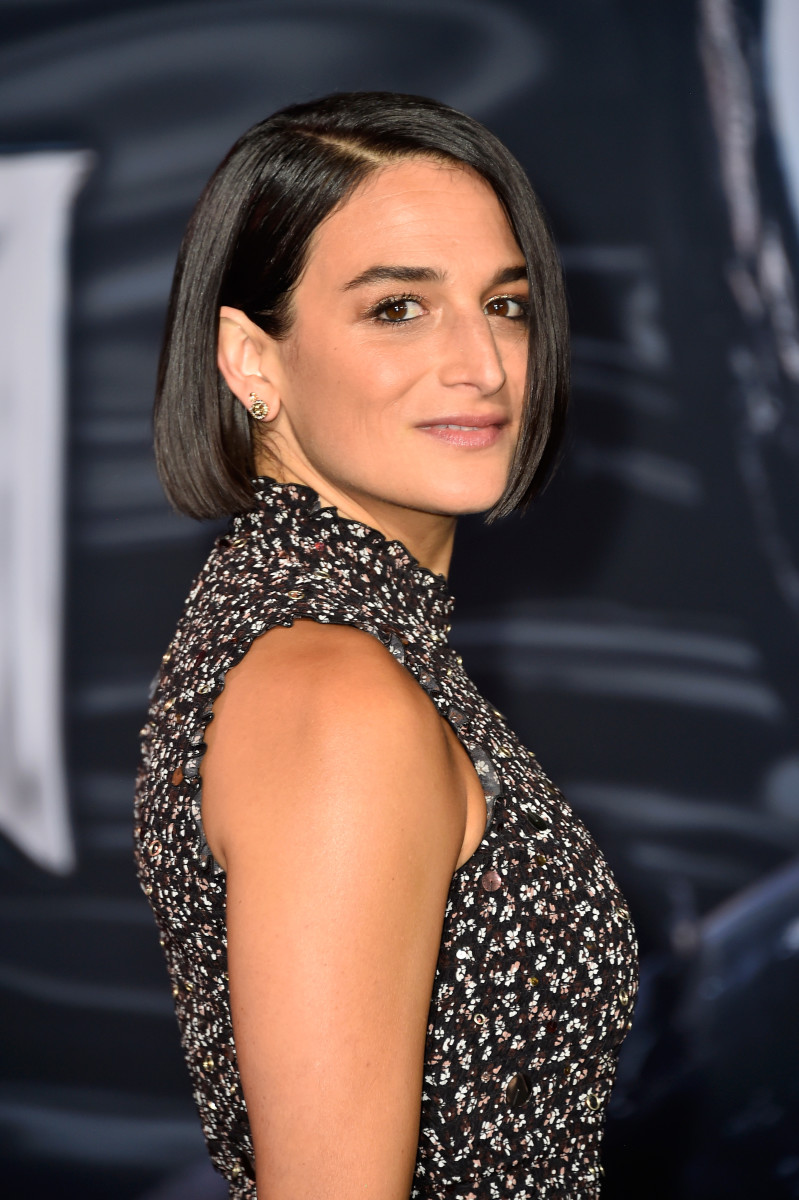Jenny Slate at the Los Angeles 'Venom' premiere. Photo: Frazer Harrison/Getty Images