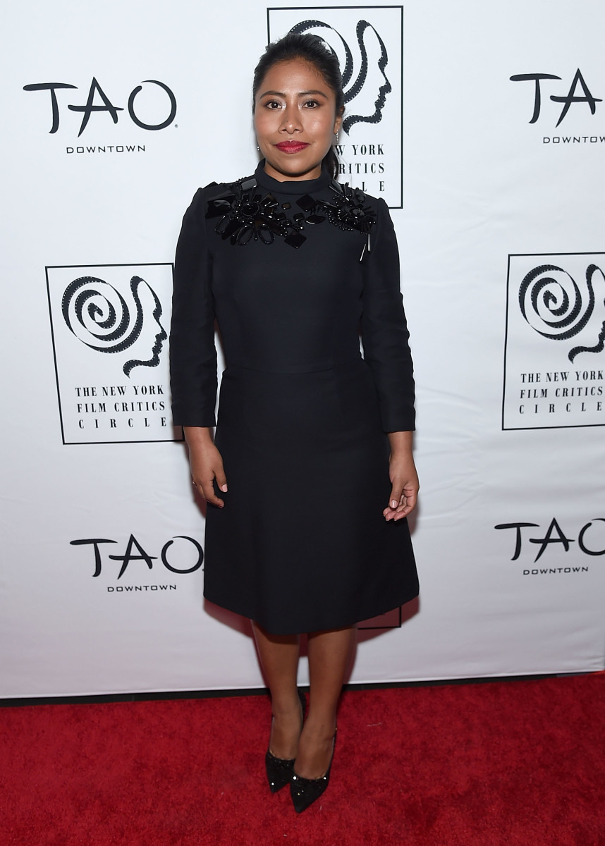 Yalitza Aparicio in Prada at the 2018 New York Film Critics Circle Awards. Photo: Jamie McCarthy/Getty Images