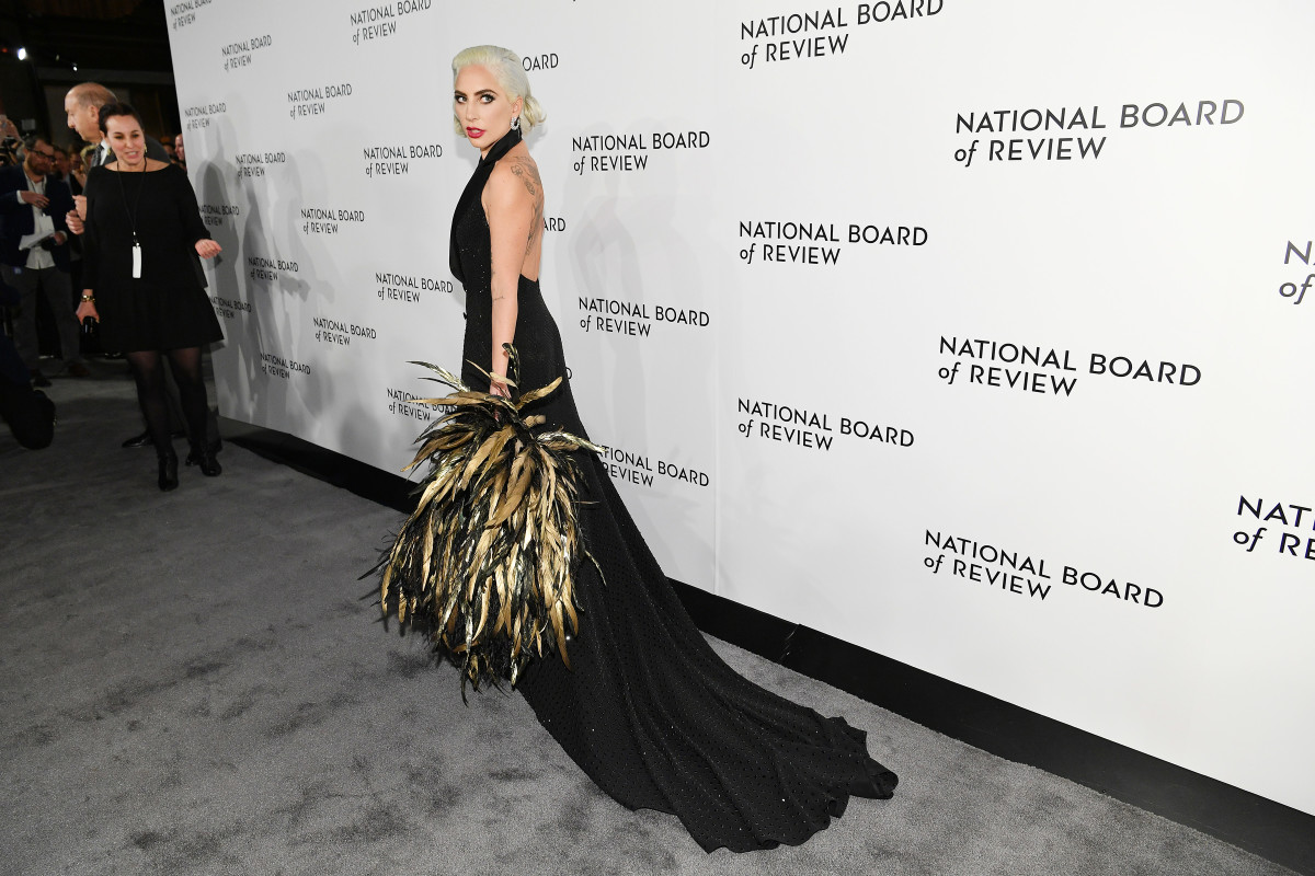 Behold, a master at work. Lady Gaga in Ralph Lauren Collection. Photo: Dia Dipasupil/Getty Images