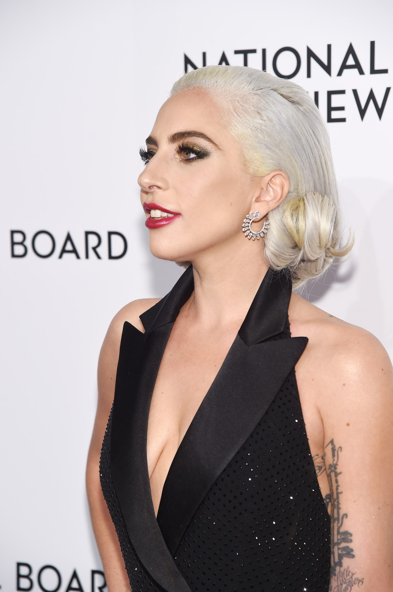 Lady Gaga in Ralph Lauren Collection. Photo: Jamie McCarthy/Getty Images