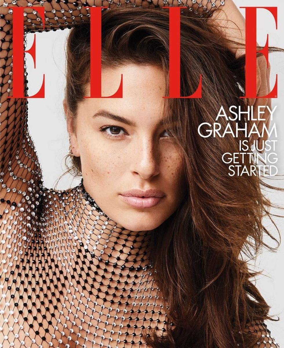 "Ashley Graham on the February cover of ""Elle."" Photo: Carin Backoff"