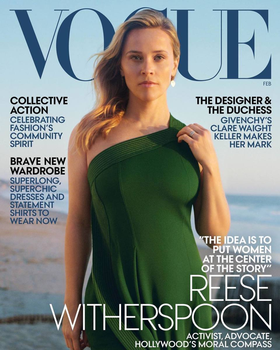 "Reese Witherspoon on the February issue of ""Vogue."" Photo: Zoë Ghertner"