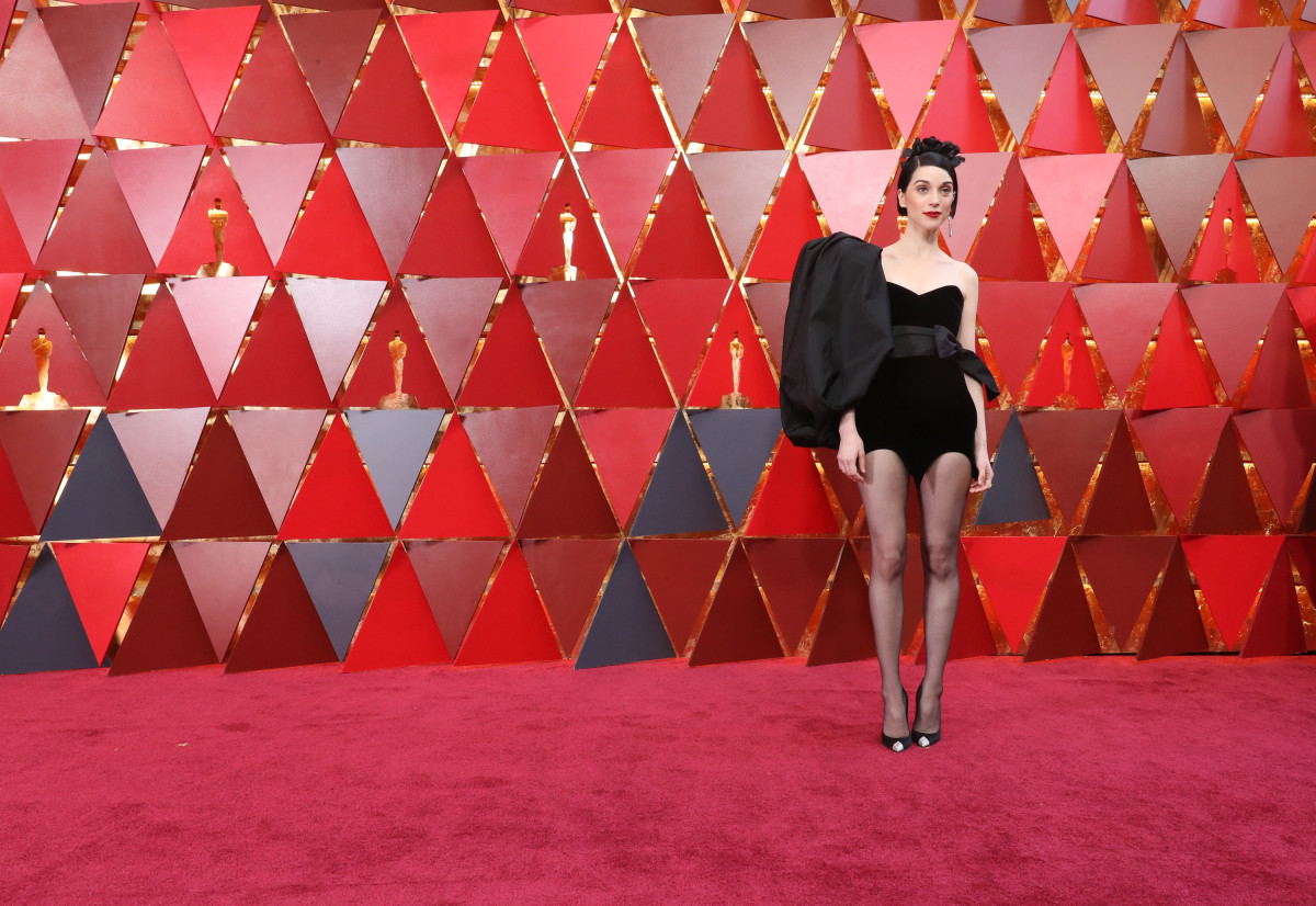 St. Vincent in Saint Laurent at the 90th Annual Academy Awards. Photo: Neilson Barnard/Getty Image