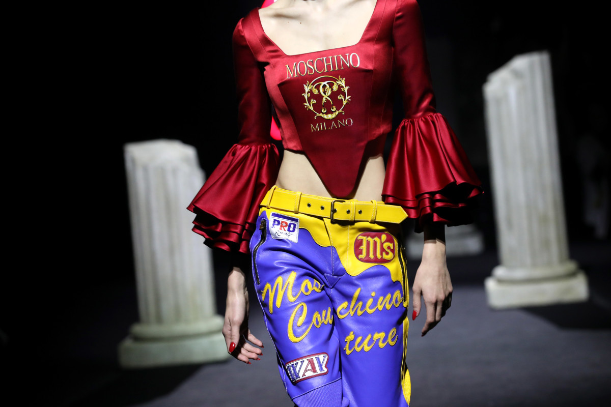 A look from Moschino Pre-Fall 2019. Photo: Elisabetta Villa/Getty Images