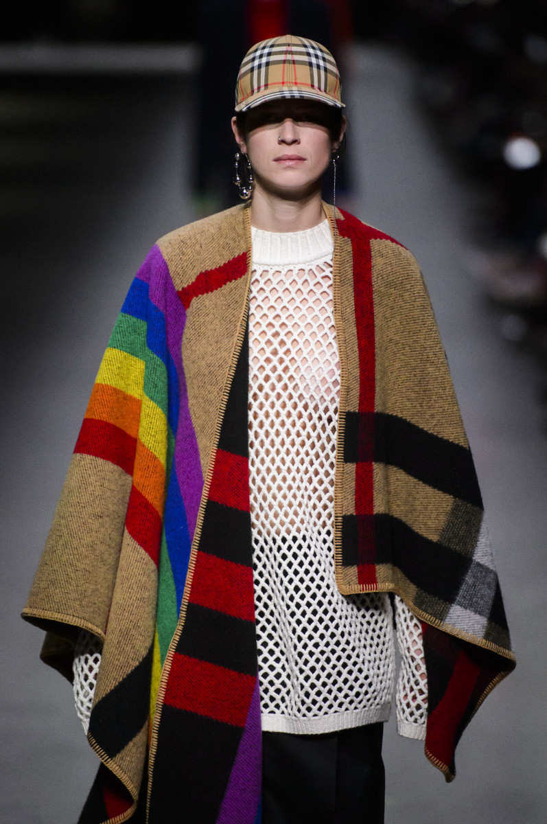A look from Burberry's February 2018 collection. Photo: Imaxtree