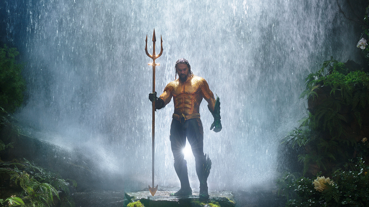 """So many people's incredible talents go into it: graphic artists, fabric printers, armor manufacturers, helmet makers, shoemakers, glove-makers, jewelry-makers, button-makers — all of these people start from scratch making a project,"" says Barrett. Arthur Curry/Aquaman (Jason Momoa) in 'Aquaman.' Photo: Courtesy of Warner Bros. Pictures"