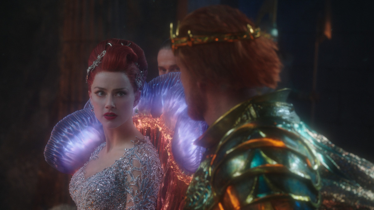 Mera (Amber Heard) puts on her finest jellyfish dress for the big fight. Photo: Courtesy of Warner Bros. Pictures & DC Comics