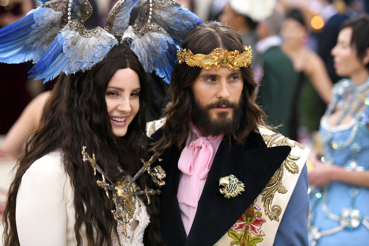Lana Del Rey and Jared Leto in Gucci at the 2018 Met Gala. Photo: Noam Galai/Getty Images for New York Magazine