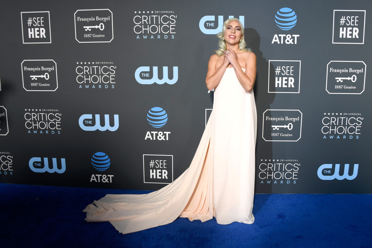 Lady Gaga in Calvin Klein By Appointment on the Twenty fourth annual Critics' Replacement Awards. Photograph: Frazer Harrison/Getty Photography