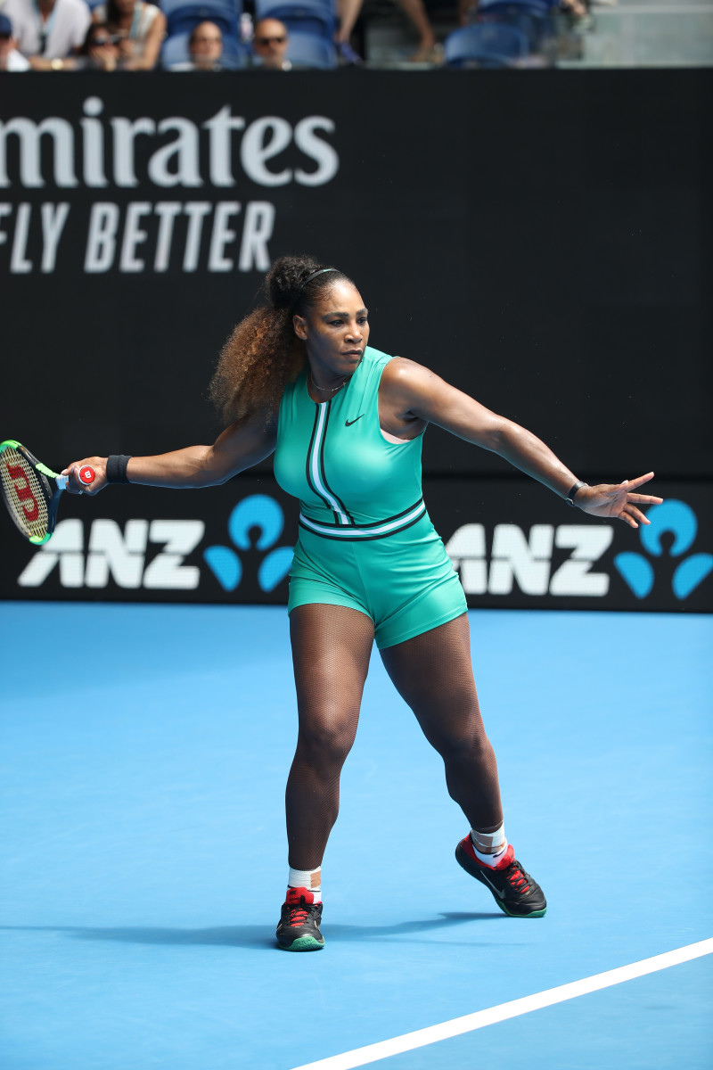 Serena Williams at the 2019 Australian Open in Melbourne. Photo: Mark Kolbe/Getty Images