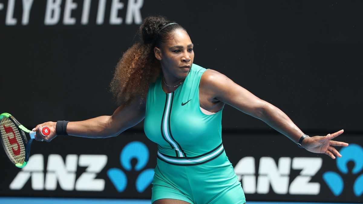Serena Williams Played Tennis In A Turquoise Leotard And