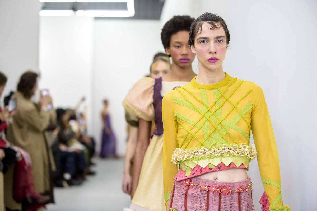 Lou Dallas Fall 2018 runway show during New York Fashion Week. Photo: Imaxtree