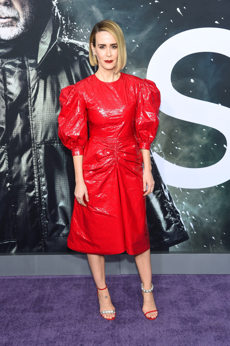 "Sarah Paulson in Calvin Klein 205W39NYC at the premiere of ""Glass"" in New York City. Photo: Jamie McCarthy/Getty Images"