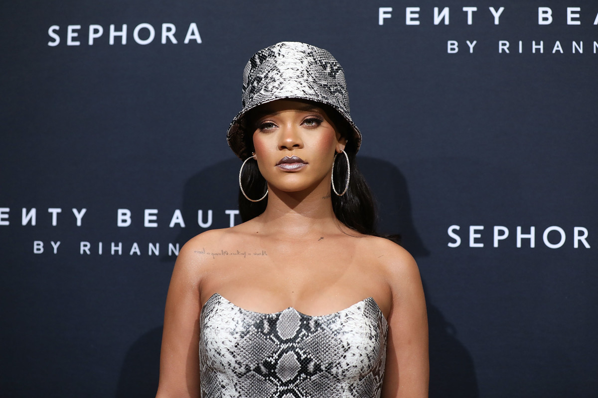 Rihanna at a Fenty Beauty anniversary event in Sydney, Australia. Photo: Caroline McCredie/Getty Images for Fenty Beauty by Rihanna