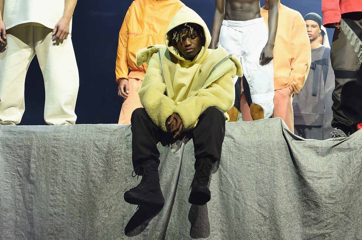 Ian Connor at Kanye West's Yeezy Season 3 presentation. Photo: Dimitrios Kambouris/Getty Images for Yeezy Season 3