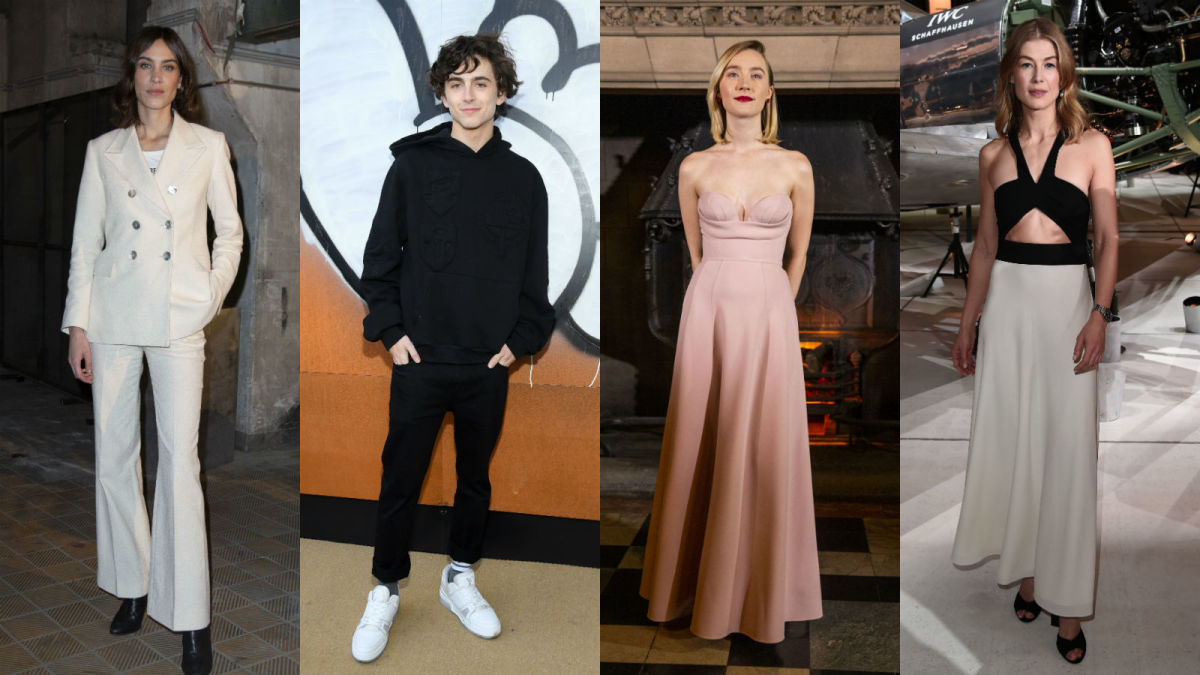 Alexa Chung, Timothée Chalamet, Saoirse Ronan and Rosamund Pike. Photo: Getty Images