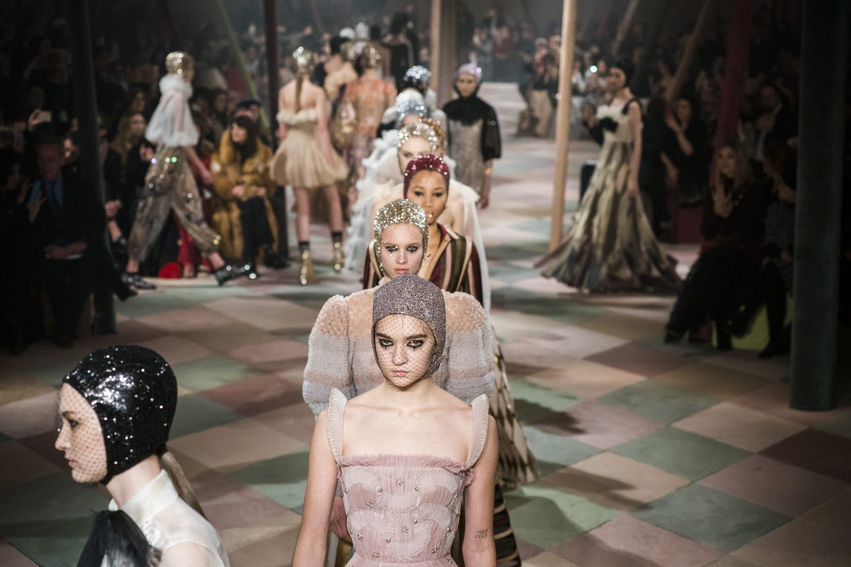 The finale at Dior's Spring 2019 Couture show. Photo: Imaxtree