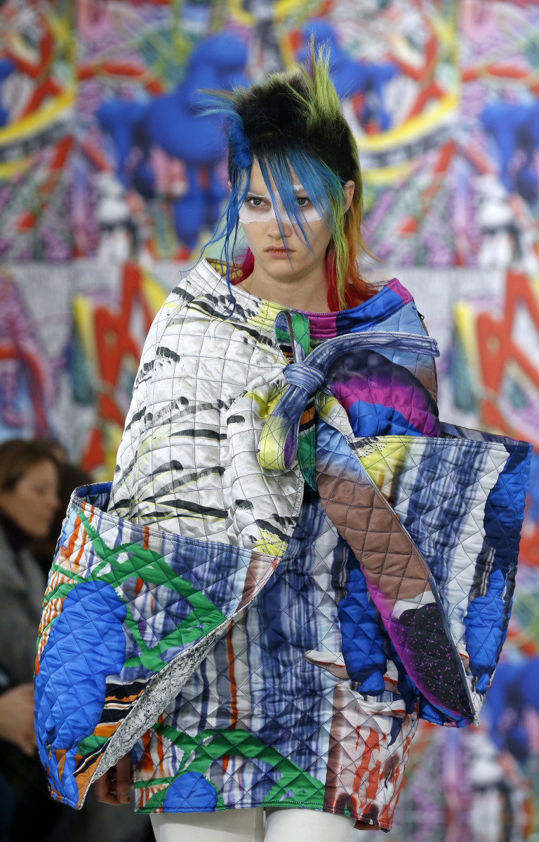 A look from the Maison Margiela Spring 2019 'Artisanal' show. Photo: Thierry Chesnot/Getty Images