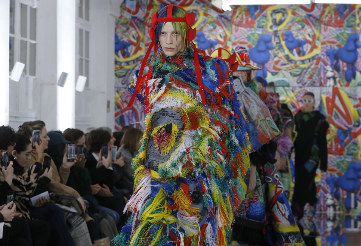 Maison Margiela's Spring 2019 Artisanal runway show in Paris. Photo: Thierry Chesnot/Getty Images