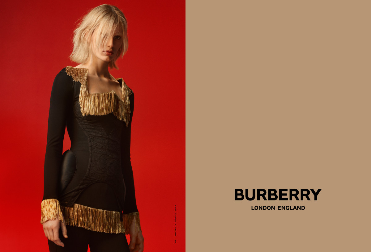 Claudia Lavender in Burberry's Spring 2019 campaign. Photo: Danko Steiner