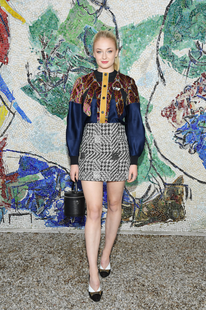 Sophie Turner at the Louis Vuitton 2019 Cruise Collection show in Paris. Photo by Pascal Le Segretain/Getty Images for Louis Vuitton