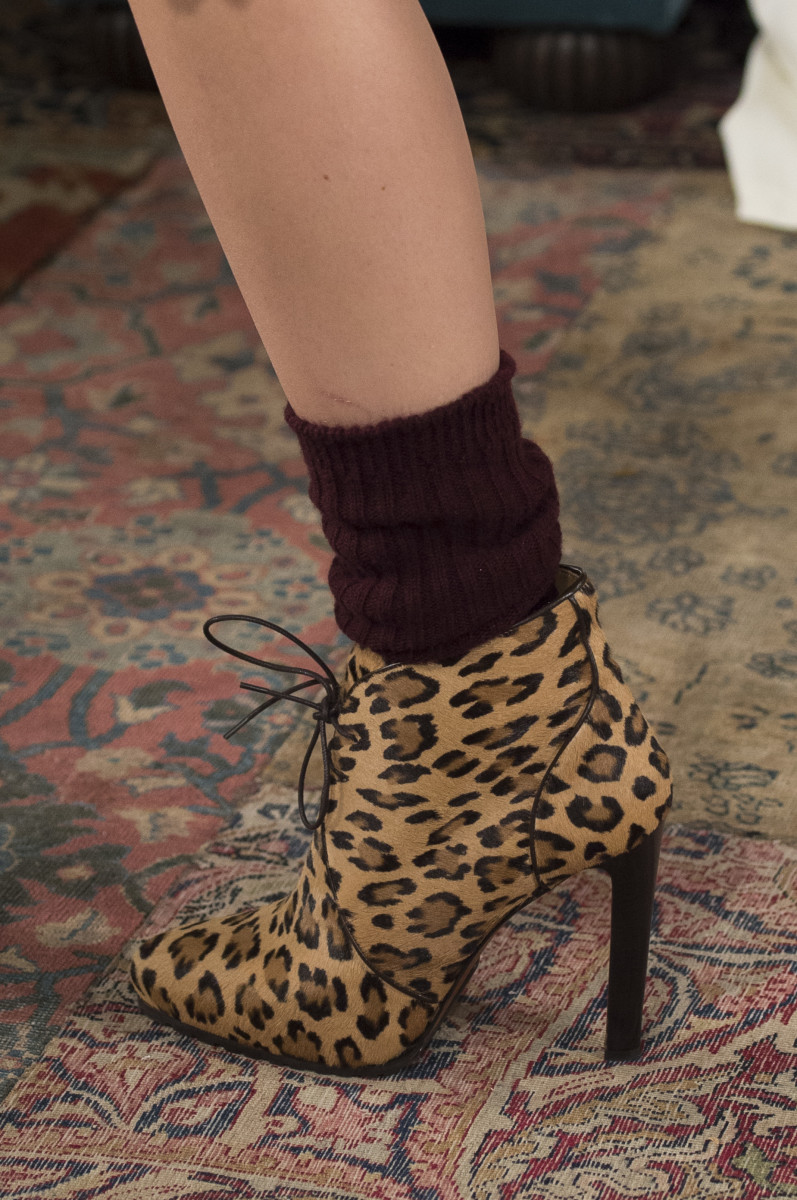 A leopard print ankle boot from Ralph Lauren's Fall 2018 collection. Photo: Imaxtree