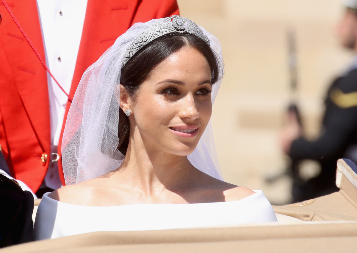 Meghan Markle, the Duchess of Sussex, on her wedding day (with makeup by Daniel Martin). Photo: Chris Jackson/Getty Images