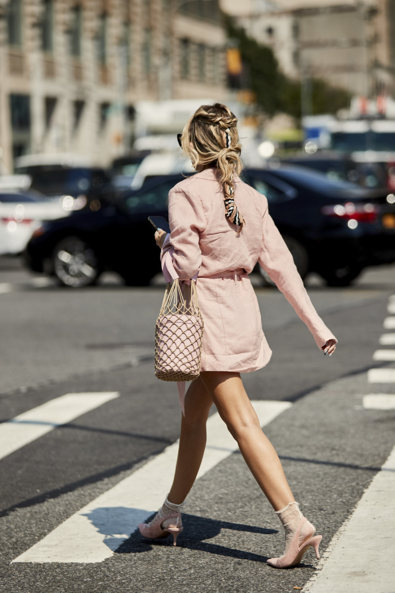 Blazer dress at New York Fashion Week. Photo: Imaxtree