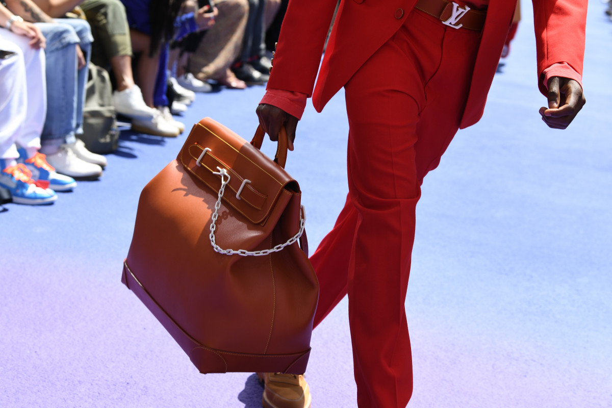 A leather handbag from the Louis Vuitton Men's Spring 2019 runway show in Paris. Photo: Pascal Le Segretain/Getty Images