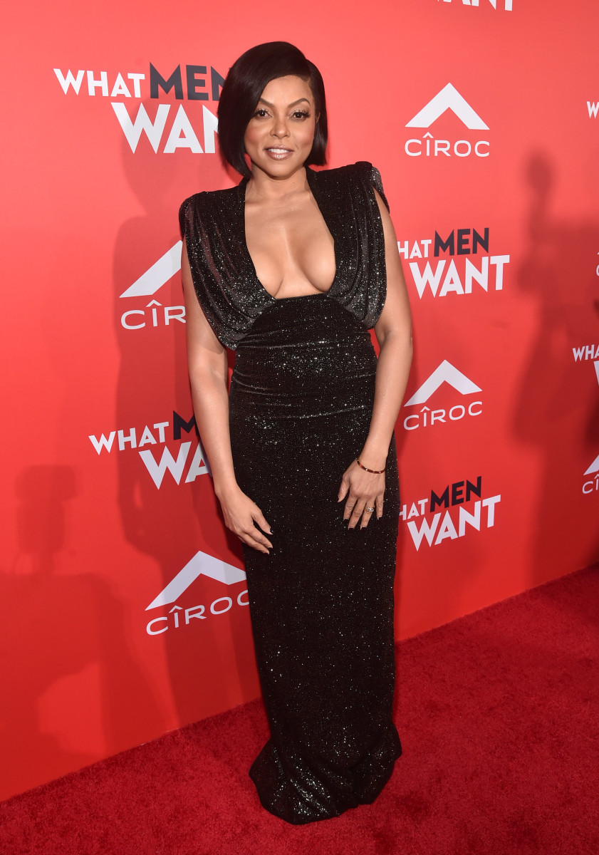 Taraji P. Henson in Ralph & Russo at the premiere of 'What Men Want' in Westwood, Calif. Photo: Alberto E. Rodriguez/Getty Images