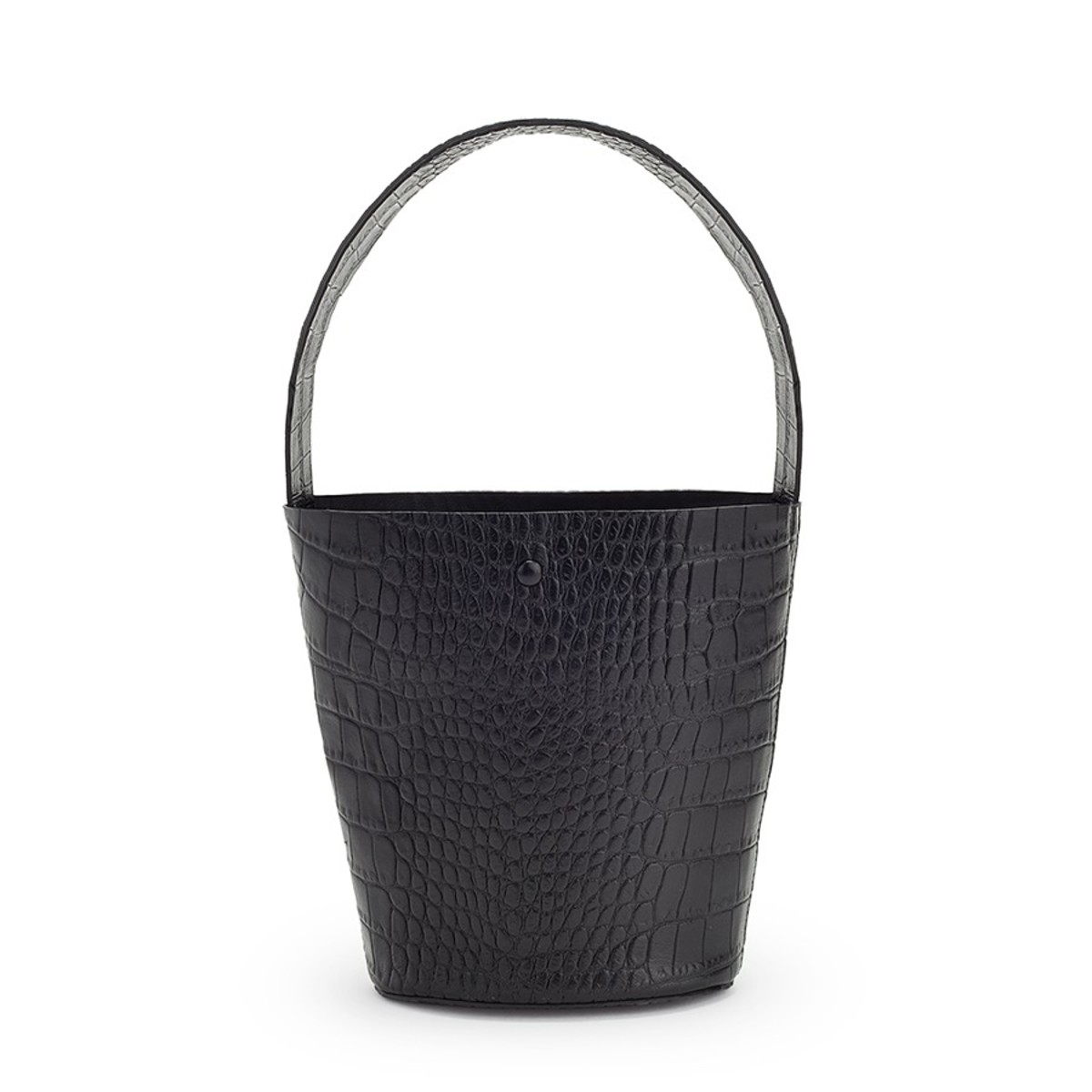 Cuyana Croc-Embossed Wide Strap Mini Bucket Bag, $195, available here.