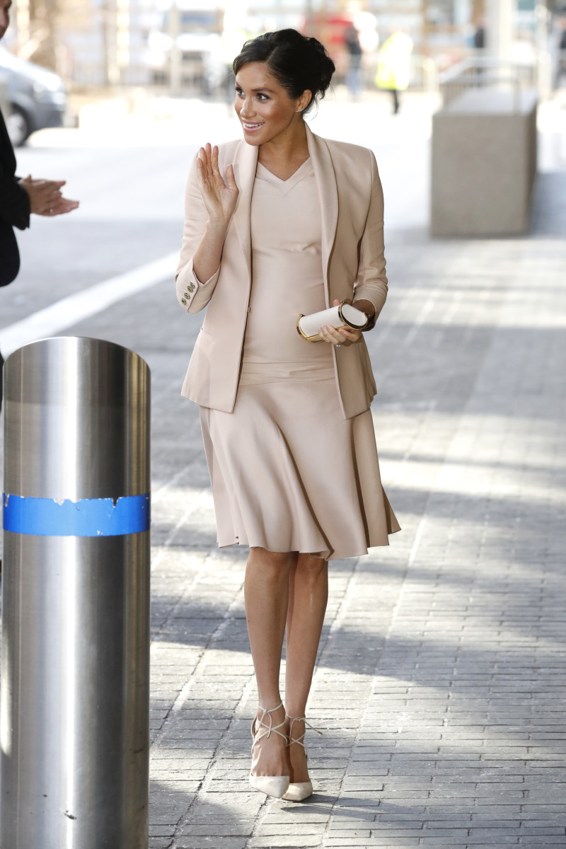 Meghan, Duchess of Sussex, arrives at the National Theatre in London. Photo: Chris Jackson/Getty Images